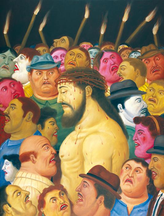 """Arte: la """"Via Crucis"""" di Botero a Palermo"""