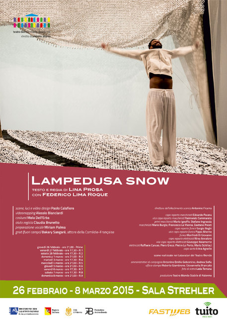 Teatro: migranti al Biondo per prova generale Lampedusa snow