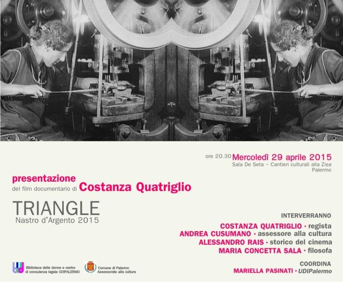 Presentazione del film-documentario Triangle, di Costanza Quatriglio