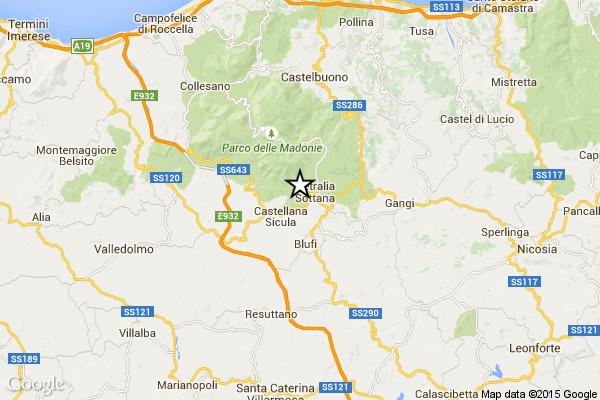 Tre terremoti di magnitudo 1.8 – 1.9 – 1.7 nella notte in provincia di Palermo