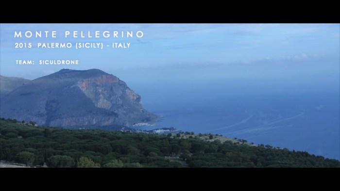 Lo spettacolo di Monte Pellegrino ripreso dal drone in volo