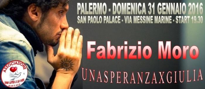 """""""Una speranza per Giulia"""", Fabrizio Moro canterà a Palermo per la piccola Giulia"""