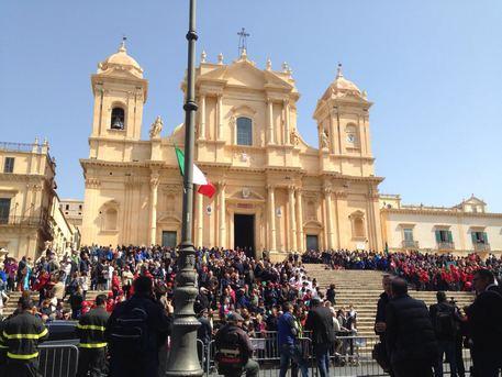 Presidente Mattarella in visita a Noto