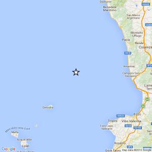 Terremoto 3.3 nel basso Tirreno