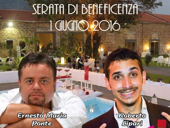 Cena/Cabaret di beneficenza con Ernesto Maria Ponte e Roberto Lipari al Casale San Lorenzo