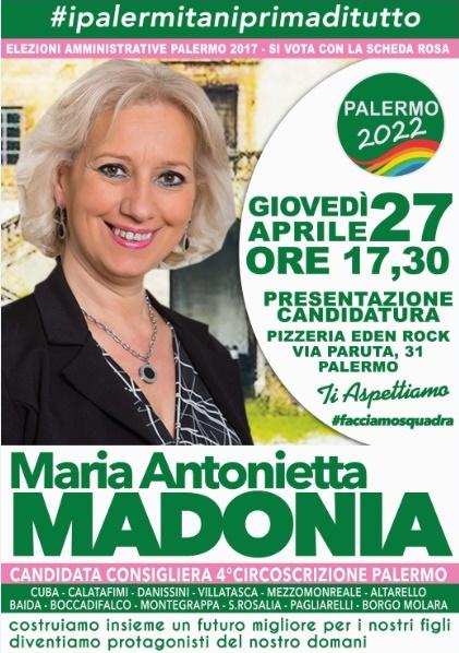 """""""Elezioni amministrative 2017"""" Maria Antonietta Madonia scende in campo"""