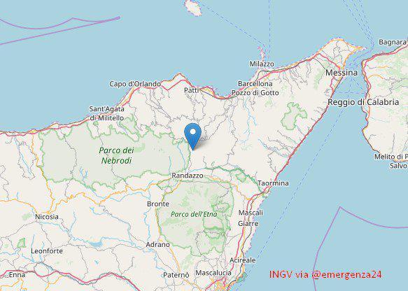 Terremoti: Scossa di magnitudo 3.0 nel messinese