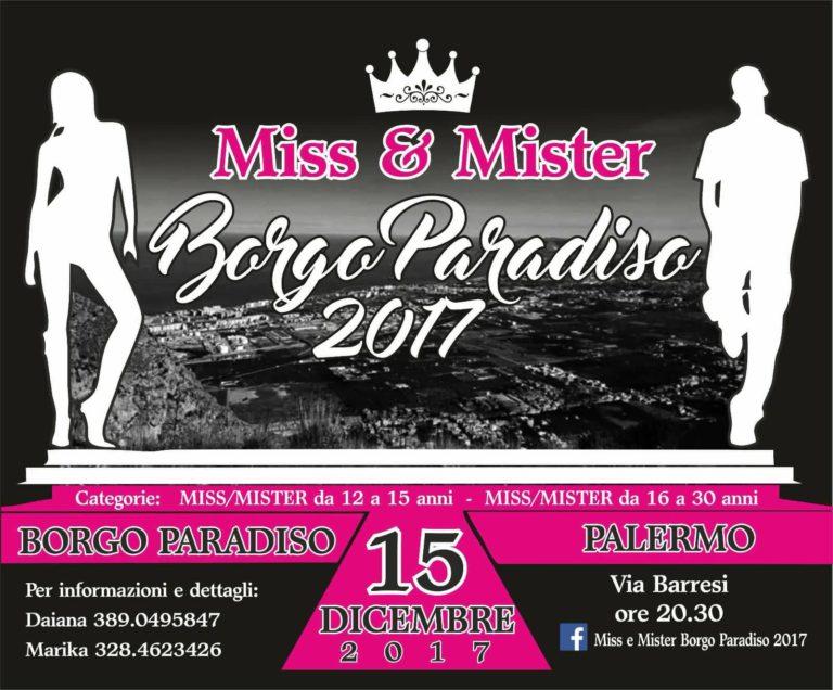 Miss e Mister Borgo Paradiso 2017