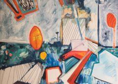 """""""Play Time"""", pittura e musica al Magneti Cowork con Corrimano Edizioni: l'estemporanea di Ketevan Jorjoliani e il sound di Luca Ganci"""
