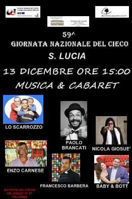 Giornata nazionale del cieco, domani Nicola Giosuè ospite dell'UIC con altri artisti