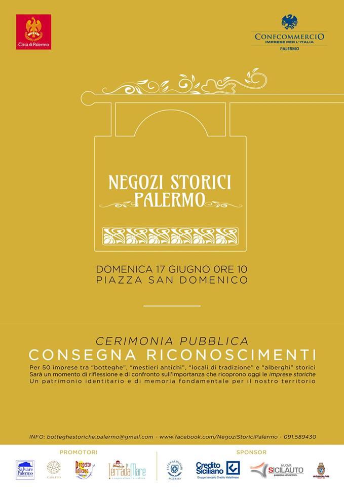 A 50 imprese storiche palermitane il riconoscimento come negozio storico di Palermo
