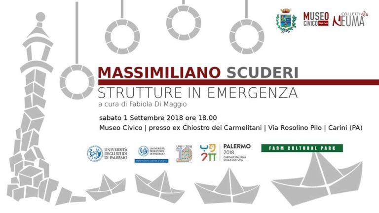 """Le """"Strutture in Emergenza"""" di Massimiliano Scuderi in mostra al Museo Civico di Carini come frame surreali di cronaca contemporanea"""