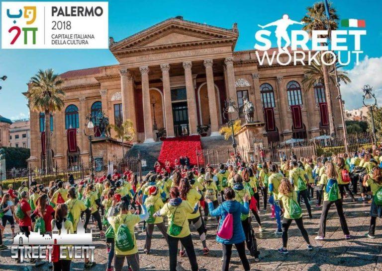"""Street Workout Palermo: una giornata da vivere tra sport e monumenti, inserita tra gli eventi di """"Palermo Capitale della Cultura"""""""