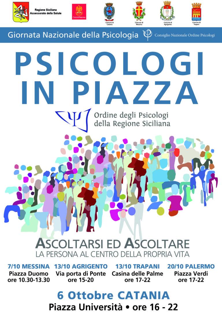 """""""Psicologi in piazza"""", da sabato 6 al 20 ottobre in cinque province"""