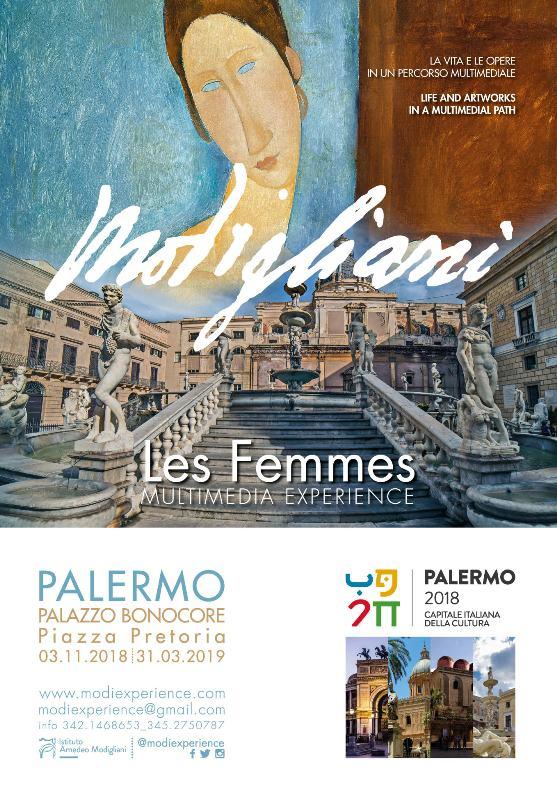 """Palermo: dal 3 novembre nella stanza segreta di Palazzo Bonocore arrivano i capolavori di Amedeo Modigliani e le opere dei suoi amici assieme a """"modigliani multimedia experience, les femmes"""""""