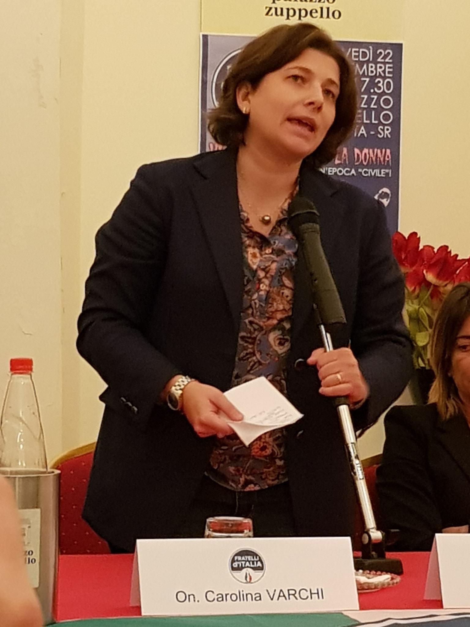 """Carolina Varchi (FDI) : """"il centrodestra può tornare vincente  in Sicilia solo attraverso il rinnovamento  e una nuova selezione della classe dirigente"""""""