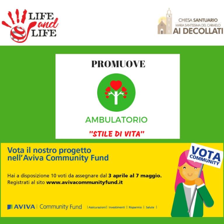 """Sino al 7 maggio si vota sulla piattaforma AVIVA per l'Ambulatorio """"Stile di Vita"""""""