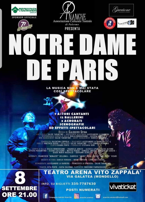 """Palermo. """"Notre Dame de Paris"""", torna in scena la compagnia Ananche"""