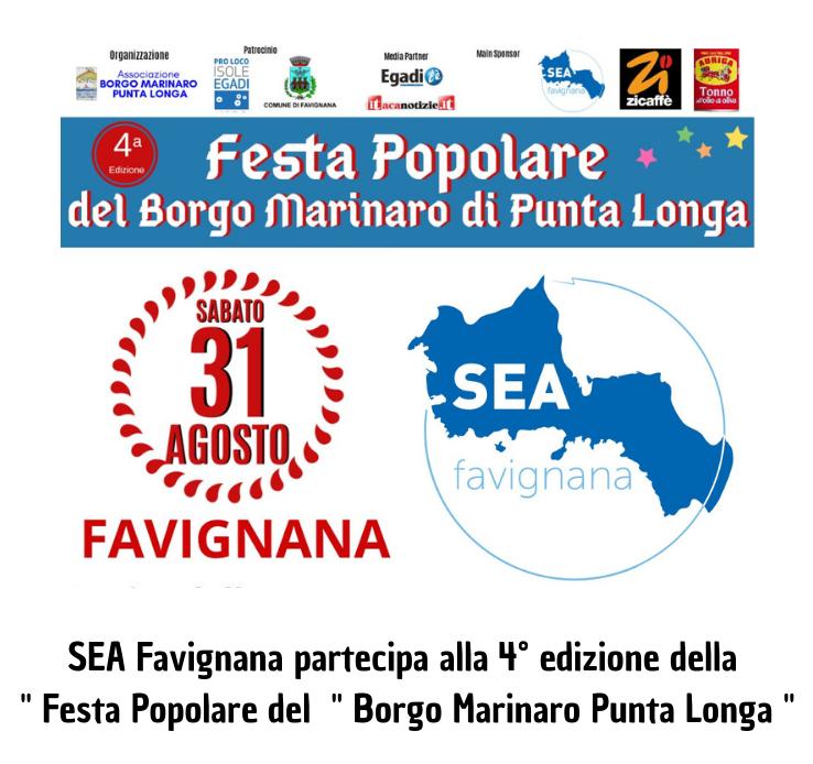 Festa del Borgo Marinaro di Punta Longa, la Società Elettrica di Favignana partner  dell'evento dedicato al tonno locale