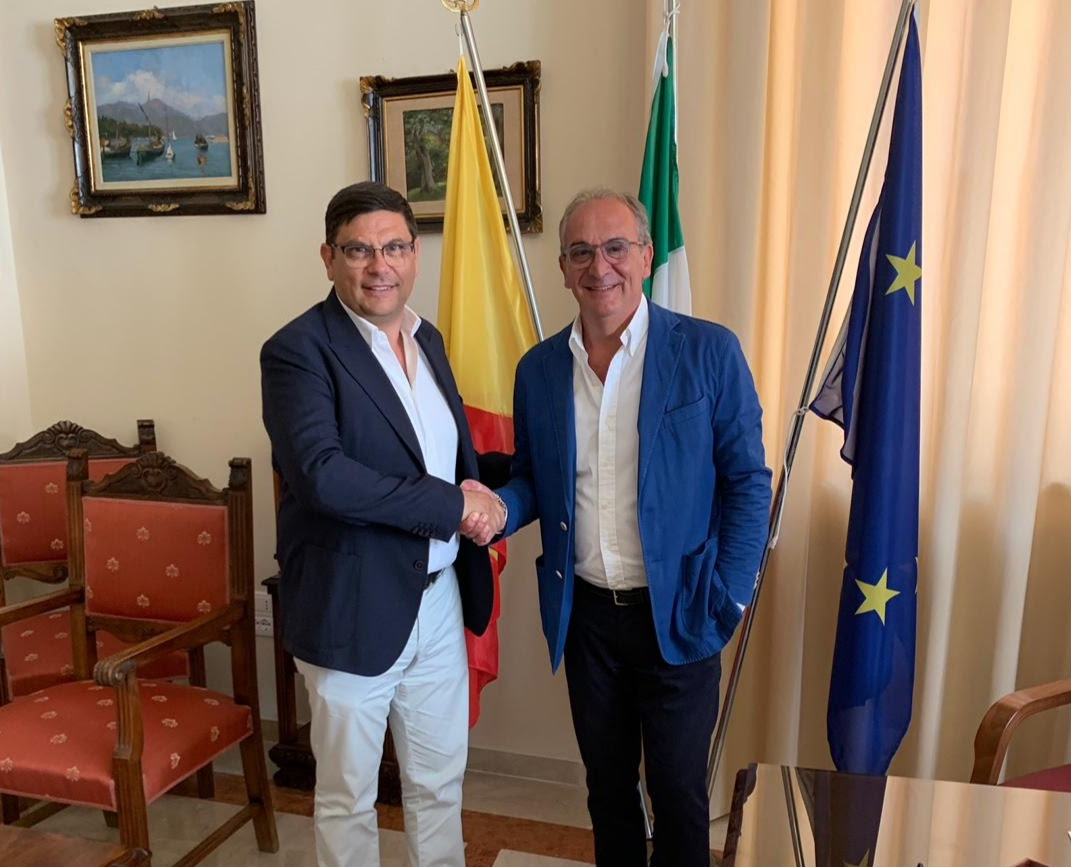 Aeroporto di Trapani: Salvatore Ombra incontra Pino Pace, presidente della Camera di Commercio di Trapani