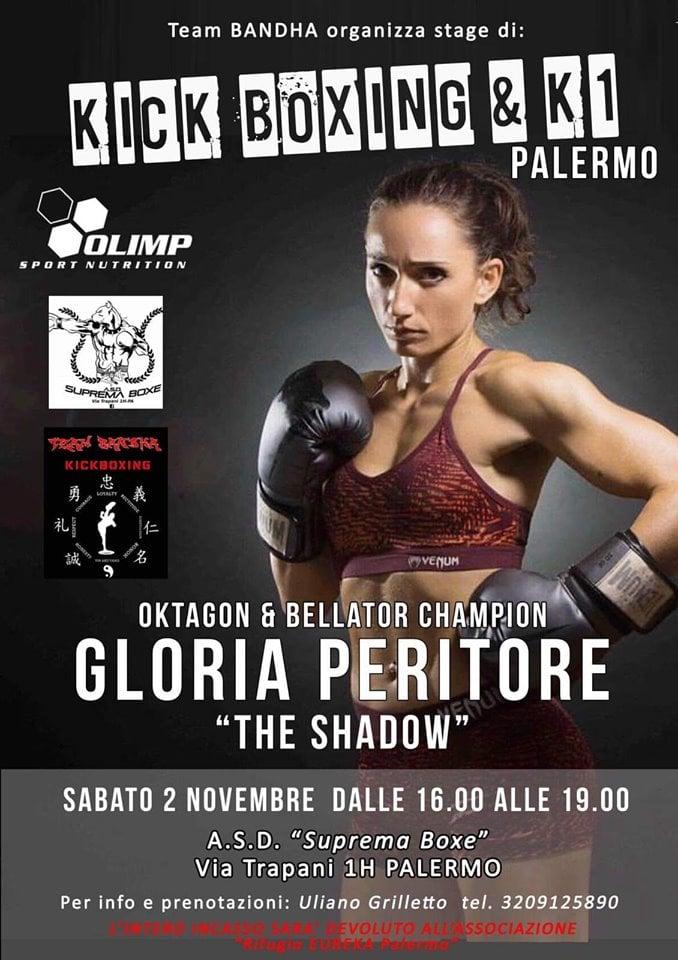Gloria Peritore in azione dal vivo a Palermo