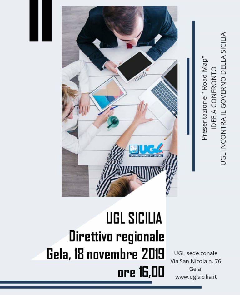 """A Gela domani l'Ugl Sicilia presenterà  """"Road Map"""" idee a confronto"""
