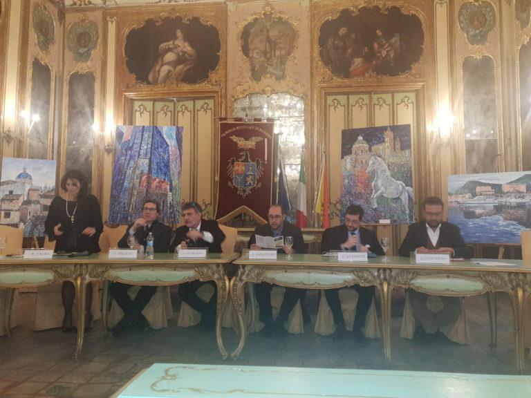 Palermo. Palazzo Comitini: presentazione della mostra di Lo Iacono