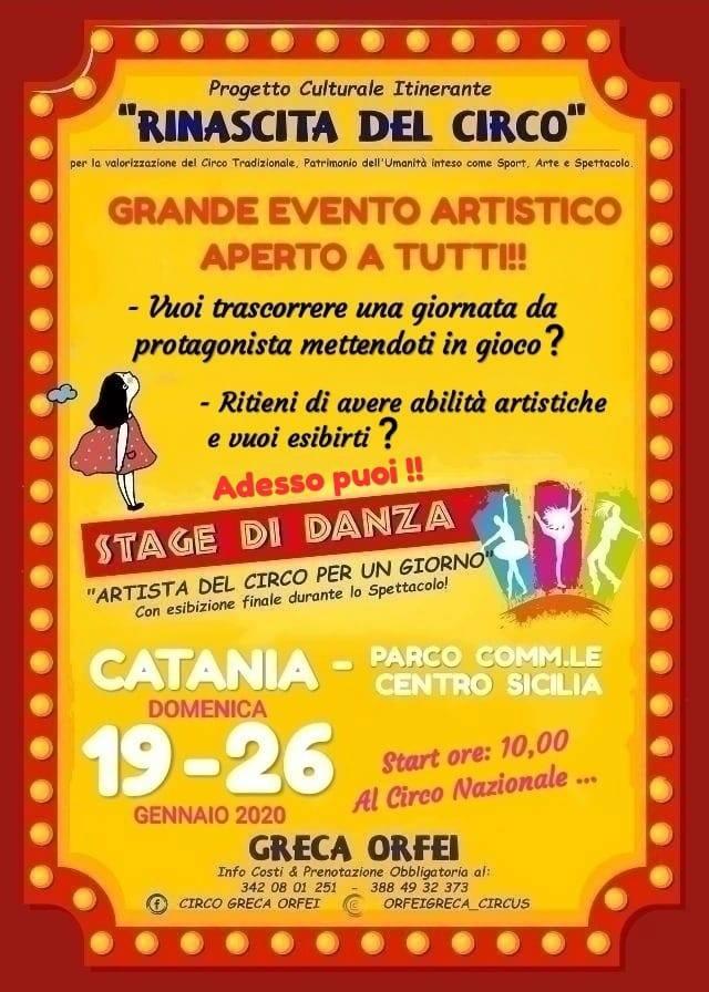 Al circo Greca Orfei al via lo stage di danza coreografica
