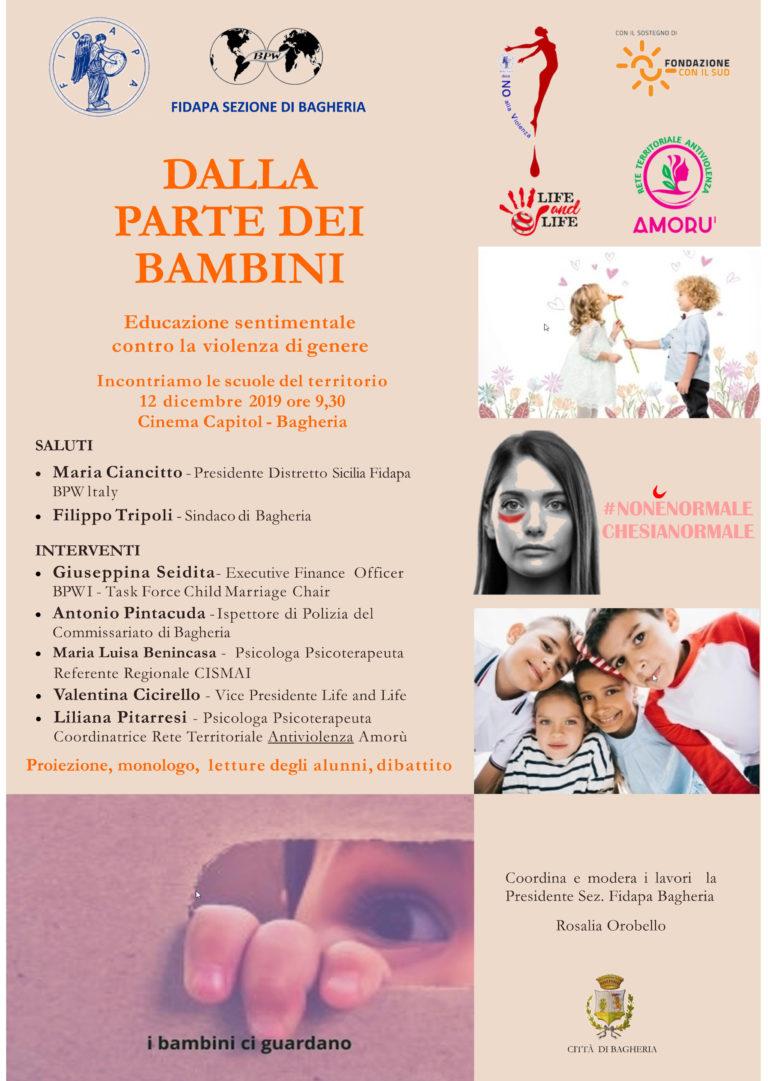 Violenza di genere: al Capitol di Bagheria si parla di educazione sentimentale con le scuole del territorio