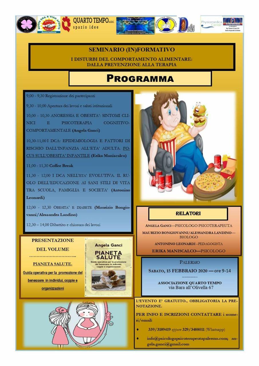 Disturbi del comportamento alimentare: un seminario per affrontare la problematica