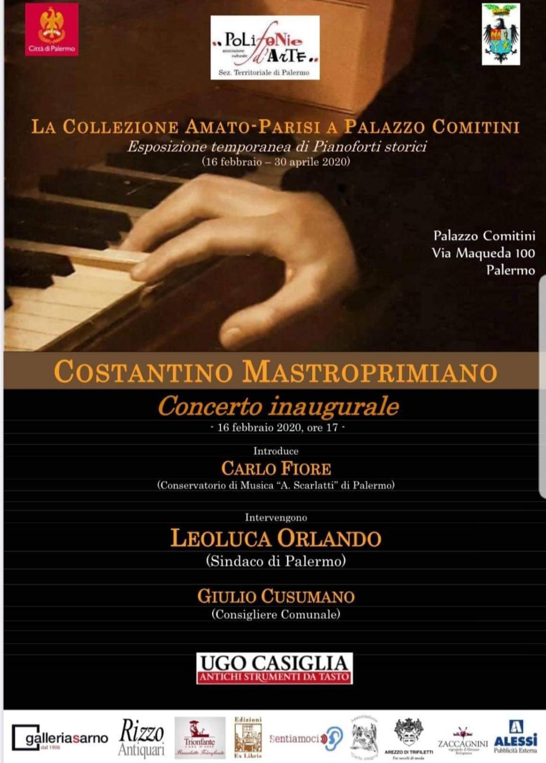 Palermo. Concerto inaugurale per la mostra di pianoforti storici Amato-Parisi