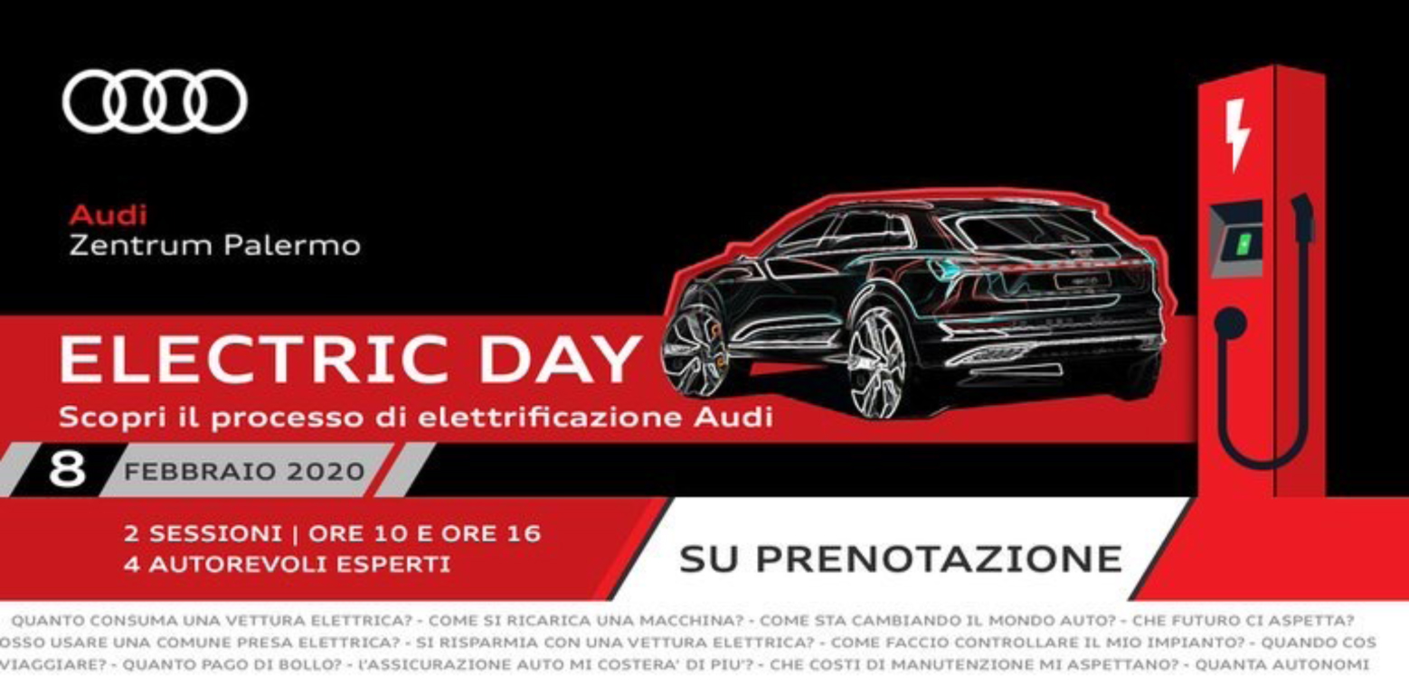 Electric Day sabato all'Audi Zentrum di Palermo