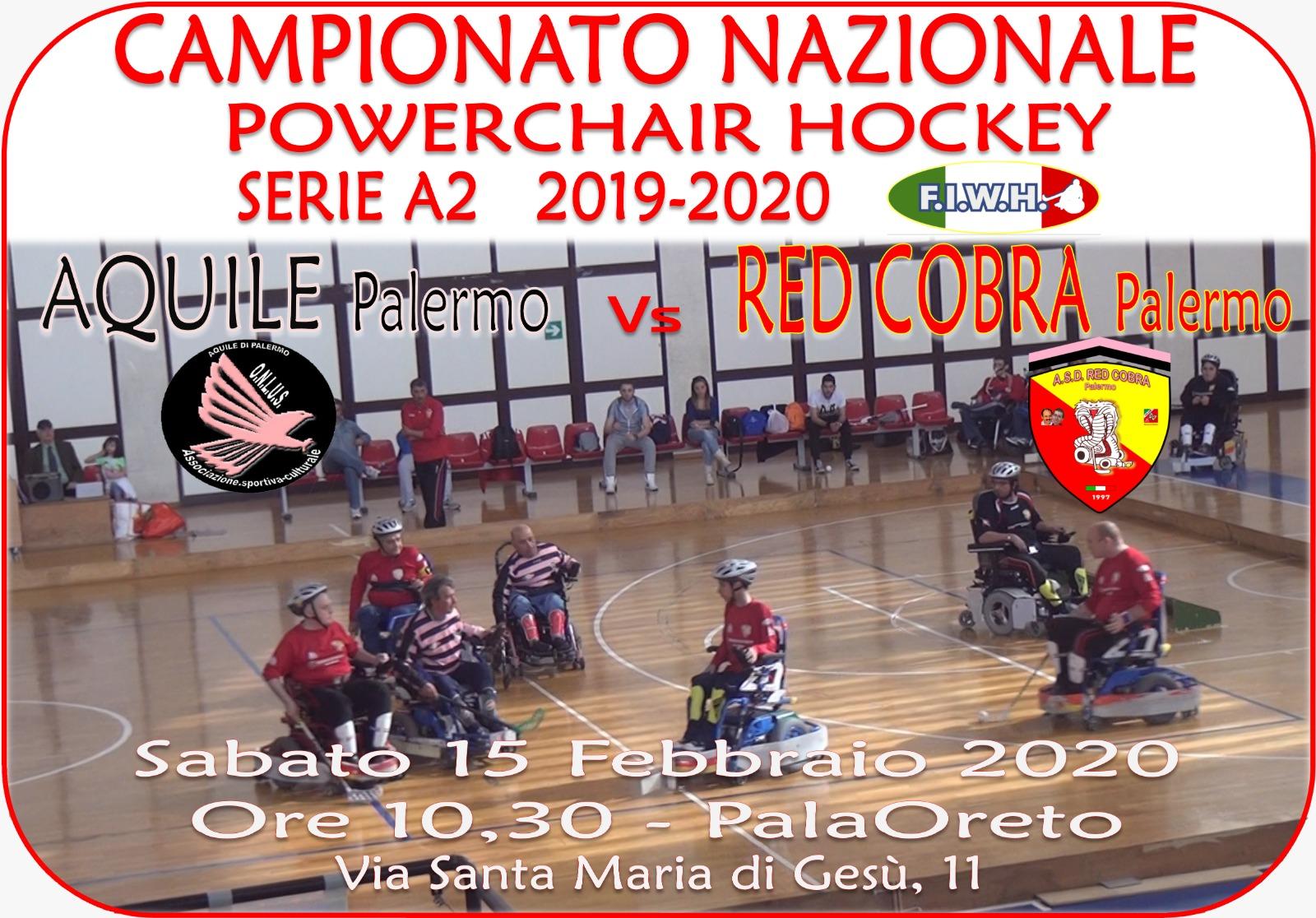 Wheelchair hockey, esordio di successo in A2 per i Red Cobra Palermo