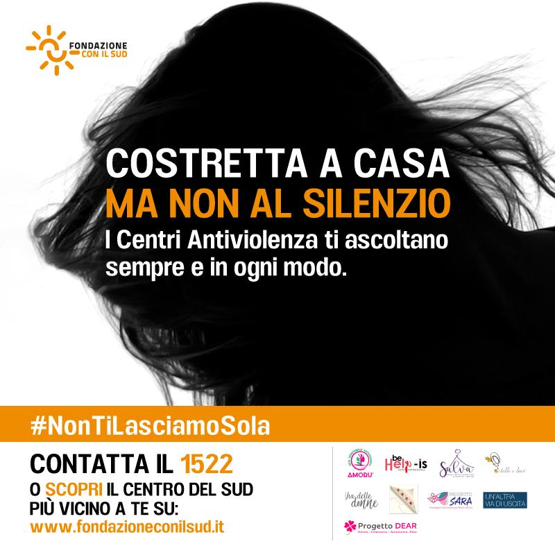 #NonTiLasciamoSola, la campagna lanciata da Fondazione con il Sud