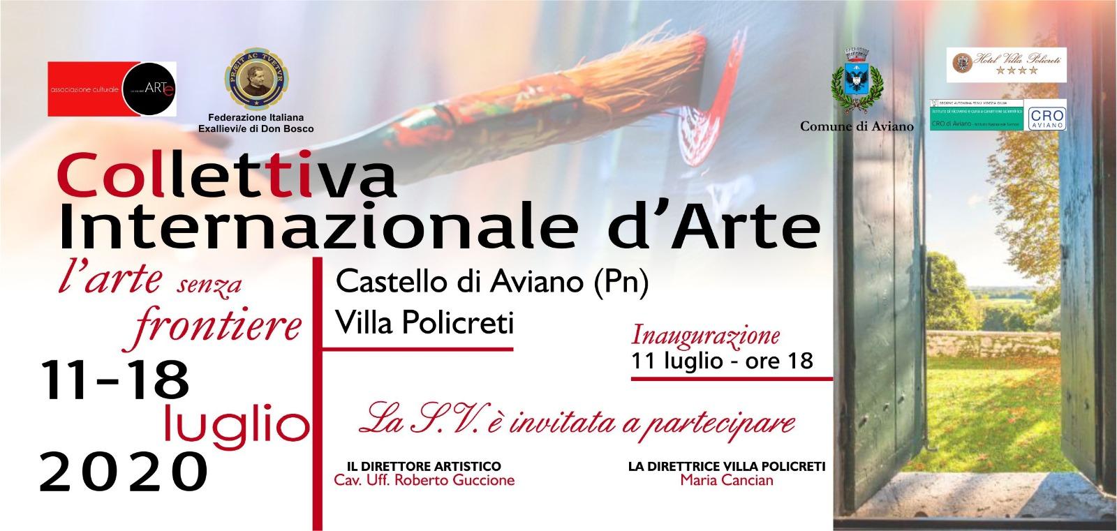 """Collettiva Internazionale d'Arte """"L'arte senza frontiere"""""""